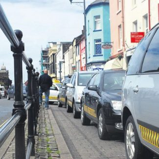 Taxis lined up at Duke Street taxi rank - pic Liam Smith