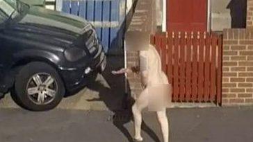 """Imagini șocante în Anglia. Un bărbat complet gol a ieșit prin geamul spart al unui bordel: """"AM FOST RĂPIT!"""""""