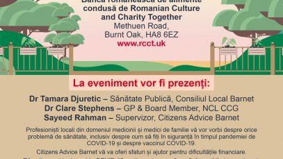 """""""Haideți să discutăm despre sănătate"""". Eveniment IMPORTANT pentru românii din Londra"""