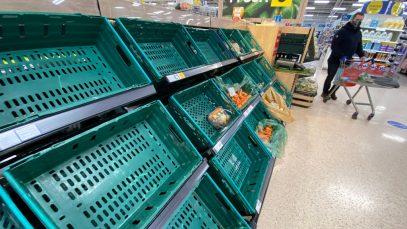 """Lipsa alimentelor din Marea Britanie """"va fi permanentă"""""""