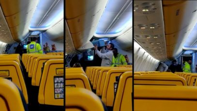 Incident într-un avion Cluj-Londra: Un bărbat a fost debarcat pentru că nu a vrut să poarte mască